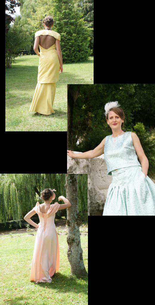Salon dames : Vêtements : Atelier de couture Céline - Cancale / bibis et chapeaux : Devy Laure - Saint Malo